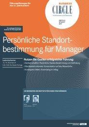 Persönliche Standort- bestimmung für Manager - Institut Innere Form