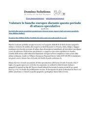 Valutare le banche europee durante questo periodo di attacco ...