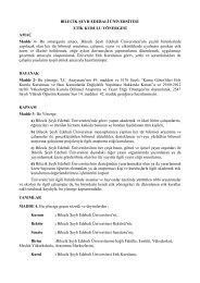 Etik Kurul Yönergesi - Bilecik Üniversitesi