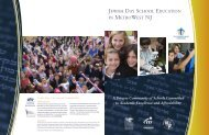MetroWest Day School Education brochure - Jewish Federation of ...