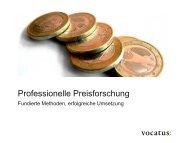 Professionelle Preisforschung Fundierte Methoden ... - Vocatus AG