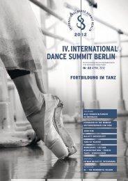 IV. INTERNATIONAL DANCE SUMMIT BERLIN