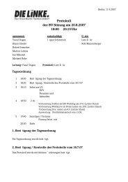 Protokoll der BV-Sitzung vom 20.08.2007 (pdf) - Reinickendorf