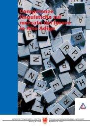 Competenze linguistiche sul mercato del lavoro in Alto Adige - AFI-IPL