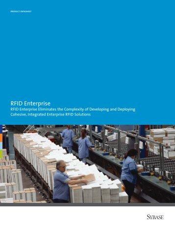 RFID Enterprise Product Data Sheet - Sybase