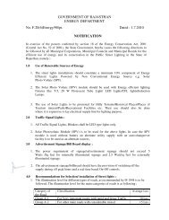Notification for Public Street Lighting Systems - Rajasthan ...
