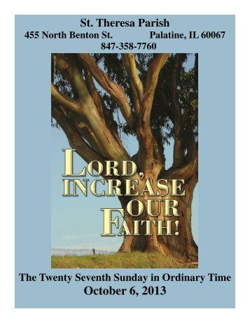 OCT 06 - St. Theresa Parish