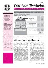 Familienheim 1/2007 - Katholische Familienheimbewegung e.V.