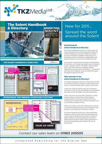 Solent Handbook & Directory Rate Card 2011 - Cowes Online