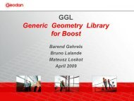 GGL Generic Geometry Library for Boost