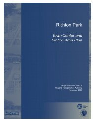 Richton Park Town Center and Station Area Plan - RTAMS