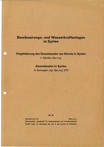 Bewässerung- und Wasserkraftanlagen in Syrien