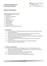 Richtlinien Selbstwahlliste - BDMV