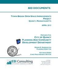 BID DOCUMENTS - City of Quincy