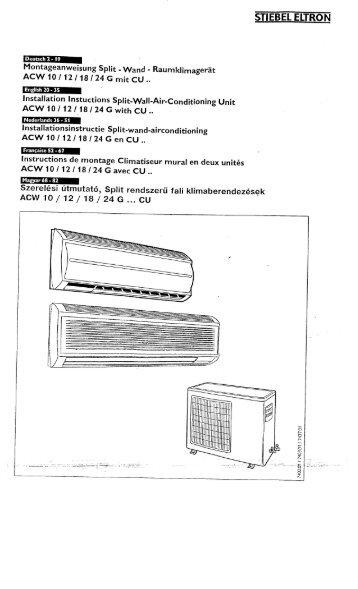 ACW 10/12/18/24 G... CU szerelési utasítás - Stiebel Eltron