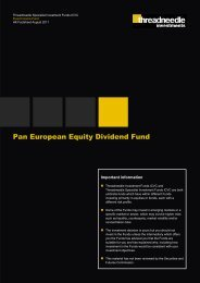 Pan European Equity Dividend Fund - Threadneedle Investments