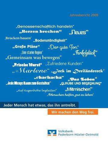 Jahresbericht als Download  (PDF) - Volksbank Paderborn-Höxter ...