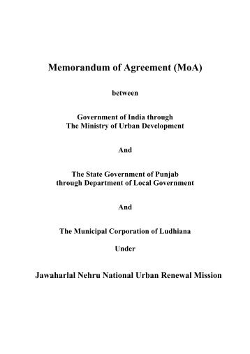 Appendix 3. Sample Memorandum Of Agreement (Moa)