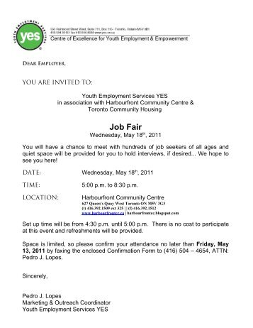 Invitation letter to companies for job fair images invitation invitation letter format for job fair gallery invitation sample invitation letter job fair choice image invitation stopboris Images