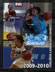 2009-10 Sonoma State Women's Basketball Media Guide