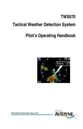 Pilot Operating Handbook - Avidyne