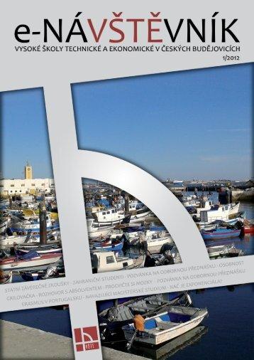 Časopis e-NÁVŠTĚVNÍK 1 - Vysoká škola technická a ekonomická v ...