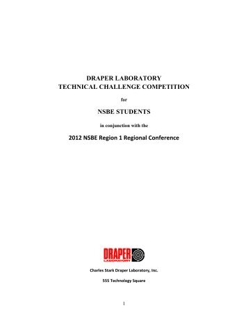 Competition Document - Draper Laboratory