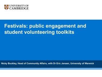 Festivals - National Co-ordinating Centre for Public Engagement