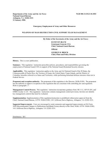 NGR 601-1 - NGB Publications and Forms Library - U.S. Army