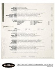 appetizers - Yard House Restaurants