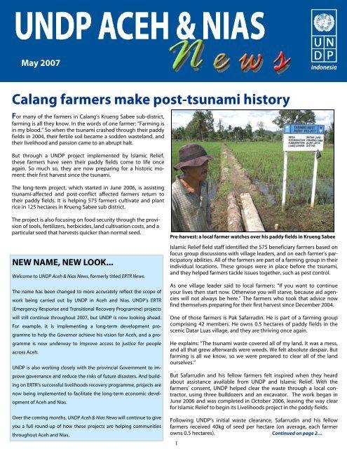 UNDP Aceh & Nias News