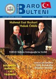 Mahmut Esat Bozkurt Hukuk Ödülü Mahmut Esat ... - İstanbul Barosu