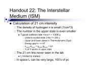 Handout 22: The Interstellar Medium (ISM) - Astro Pas Rochester