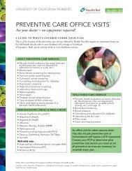Health Net Preventive Care - Wellness