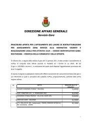 Avviso procedimento verifica congruità offerte - Città di Vignola