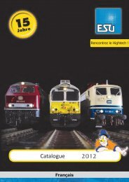Catalogue 2012 - ESU - Benelux + France