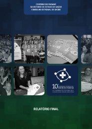 Relatório Final - 10ª Conferência Estadual de Saúde - Governo do ...
