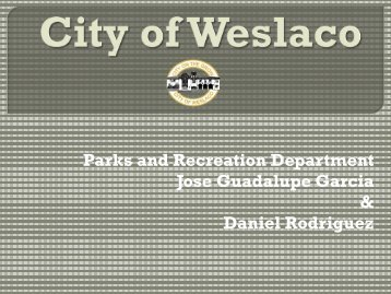 Gibson Park - City of Weslaco