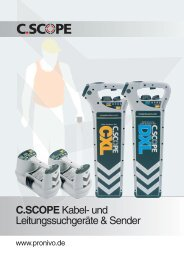 c.scope cxl & dxl kabel - ProNivo Messgeräte Handels GmbH