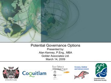 CRWS Phase II Presentation Feb 2009 potential governance