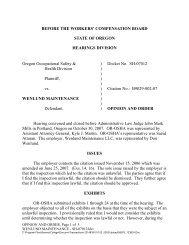 Wenlund Maintenance - Workers' Compensation Board (WCB)