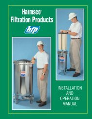 HIF Filters Operations Guide - Harmsco