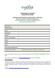 expressions of interest registration form - Engineered Wood ...
