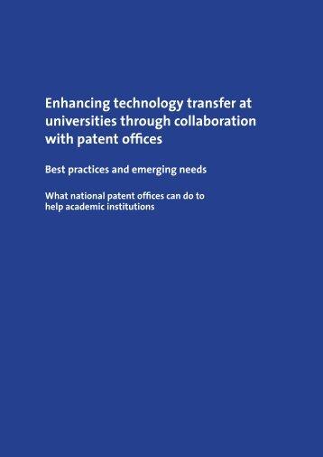 Enhancing technology transfer at universities through collaboration ...