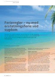 Ferieregler – nu med erstatningsferie ved sygdom - Pharmadanmark
