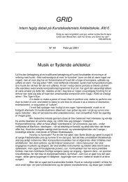 44. Musik er flydende arkitektur - Kunstakademiets Arkitektskole