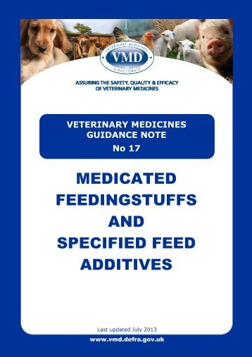 Medicated Feedingstuffs and Specified Feed Additives - Veterinary ...