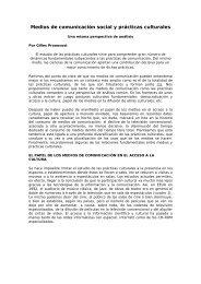 Medios de comunicación social y prácticas culturales - Cedoc