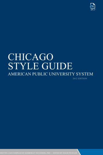 CHICAGO STYLE GUIDE - American Public University System