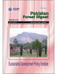 Pakistan Forest Digest - Sustainable Development Policy Institute